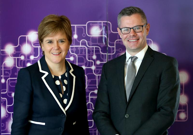 <strong>First Minister Nicola Sturgeon and Finance Secretary Derek Mackay</strong> (Jane Barlow - PA Images via Getty Images)