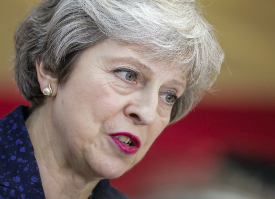 Theresa May is under pressure from Brexiteers in her party (Picture: Rex)