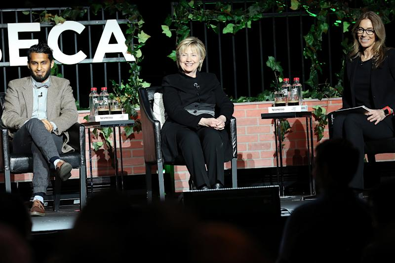 Hillary Clinton Makes Surprise Appearance at Tribeca Film Festival
