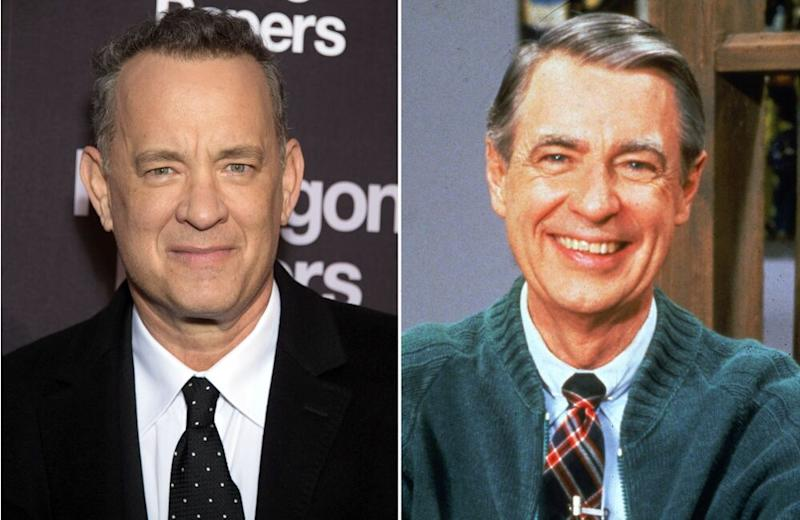 Tom Hanks and Fred Rogers | Stephane Cardinale/Corbis/Getty; Fotos International/Courtesy of Getty