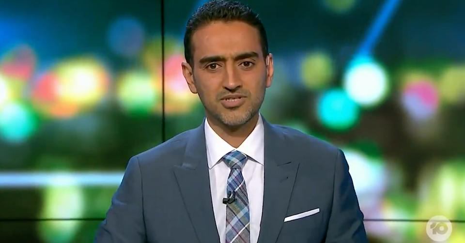 The Project's Waleed Aly has slammed the 'privileged' tradies protesting in Melbourne over their tearooms being shut down. Photo: Ten