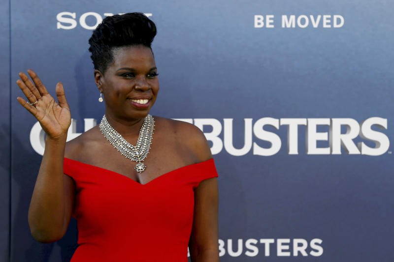 "Cast member Leslie Jones poses at the premiere of the film ""Ghostbusters"" in Hollywood, California U.S., July 9, 2016. REUTERS/Mario Anzuoni/File Photo"