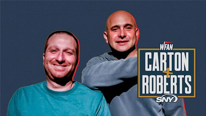 WFAN Carton and Roberts SNY Show Page Header Stacked Logo v2