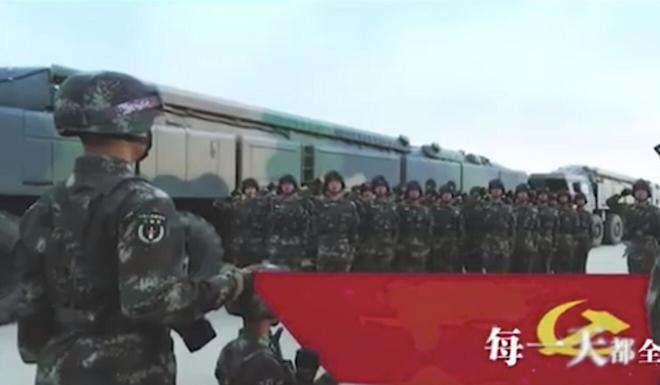 """The video shows troops """"ready to go"""" to war. Photo: Handout"""