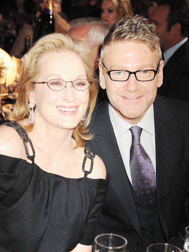 """<a href=""""http://movies.yahoo.com/movie/contributor/1800018835"""">Meryl Streep</a> and <a href=""""http://movies.yahoo.com/movie/contributor/1800019957"""">Kenneth Branagh</a> at the 17th Annual Critics' Choice Awards reception in Hollywood on January 12, 2012."""