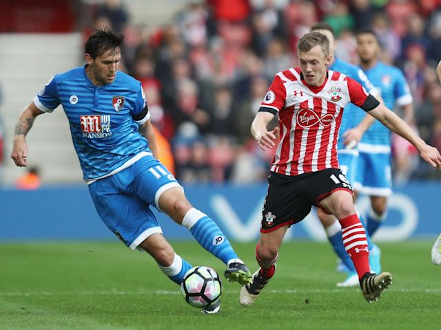 James Ward-Prowse attempts to dribble past Charlie Daniels at St Mary's: Getty