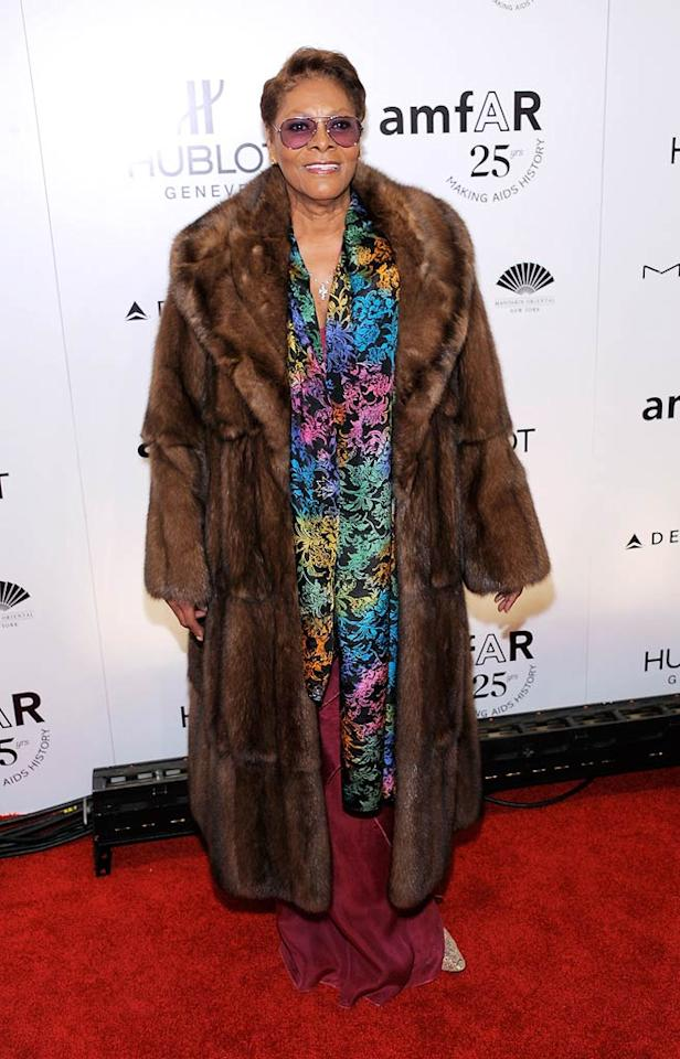 "Dionne Warwick is best known for her cover of ""That's What Friends Are For."" Call us crazy, but if Dionne had friends, wouldn't they tell her not to wear any of this to an A-list soiree during Fashion Week?! Jemal Countess/<a href=""http://www.wireimage.com"" target=""new"">WireImage.com</a> - February 9, 2011"