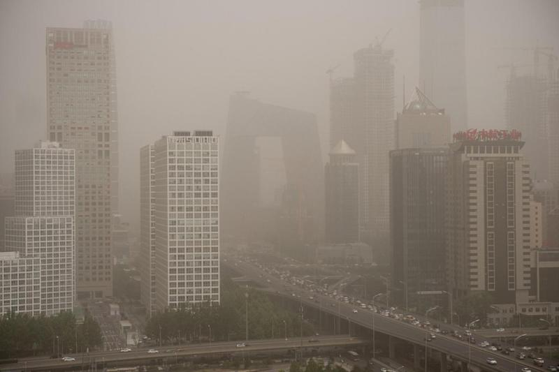 Measurements of particulate matter soared as the storm descended (AFP/Getty Images)