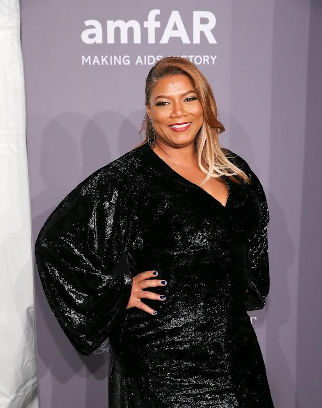 Queen Latifah at the 2018 amfAR Gala, where no biting was reported. (Photo: Bennett Raglin/Getty Images)