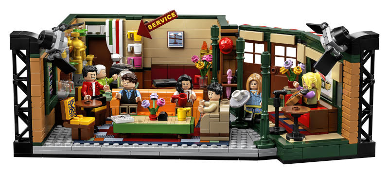 "The photo provided by LEGO shows the LEGO Ideas ""Friends"" brick set pictured marks the 25th anniversary of the iconic sitcom. Warner Bros. has partnered with LEGO and a range of other brands to provide fans with merchandise from jewelry to Rachel's famous apothecary table. (LEGO via AP)"