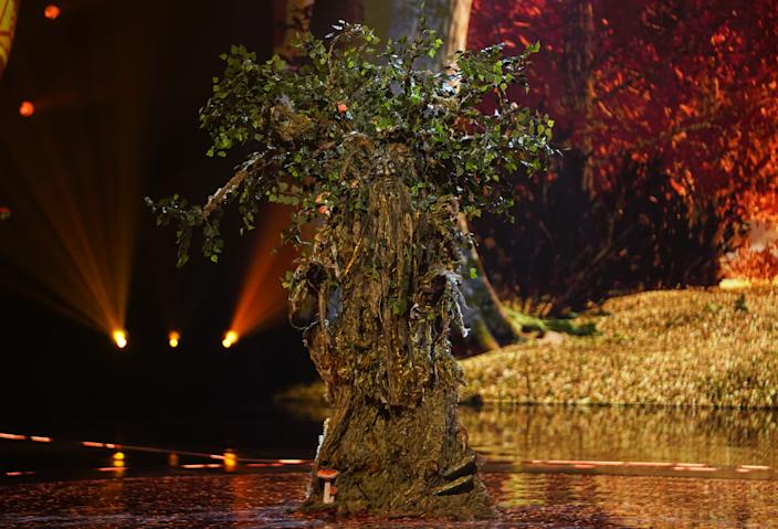 Tree was unveiled as (Credit: ITV)