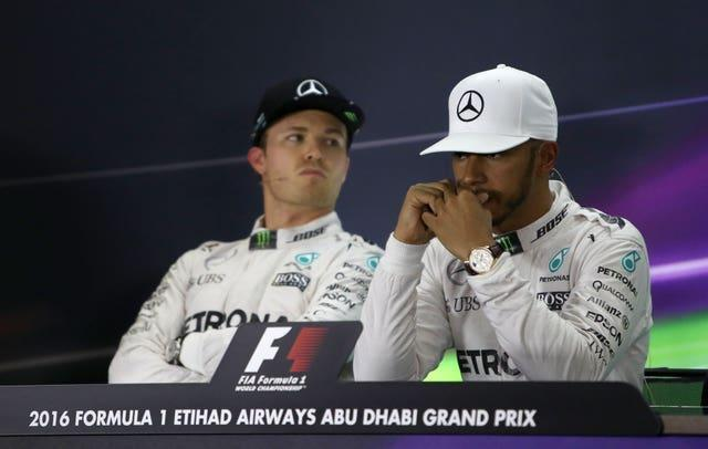 Hamilton (right) and Nico Rosberg endured a difficult relationship as Mercedes team-mates
