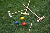"""<p>Bring the Olympic spirit to your backyard by organizing an afternoon event with cornhole, horseshoes, croquet and other lawn games. If your dad has a competitive side, keep score at each game and tally up the points at the end to name a winner. </p><p><a class=""""link rapid-noclick-resp"""" href=""""https://www.goodhousekeeping.com/home-products/g32052077/best-lawn-games/"""" rel=""""nofollow noopener"""" target=""""_blank"""" data-ylk=""""slk:SHOP THE BEST LAWN GAMES"""">SHOP THE BEST LAWN GAMES</a></p>"""