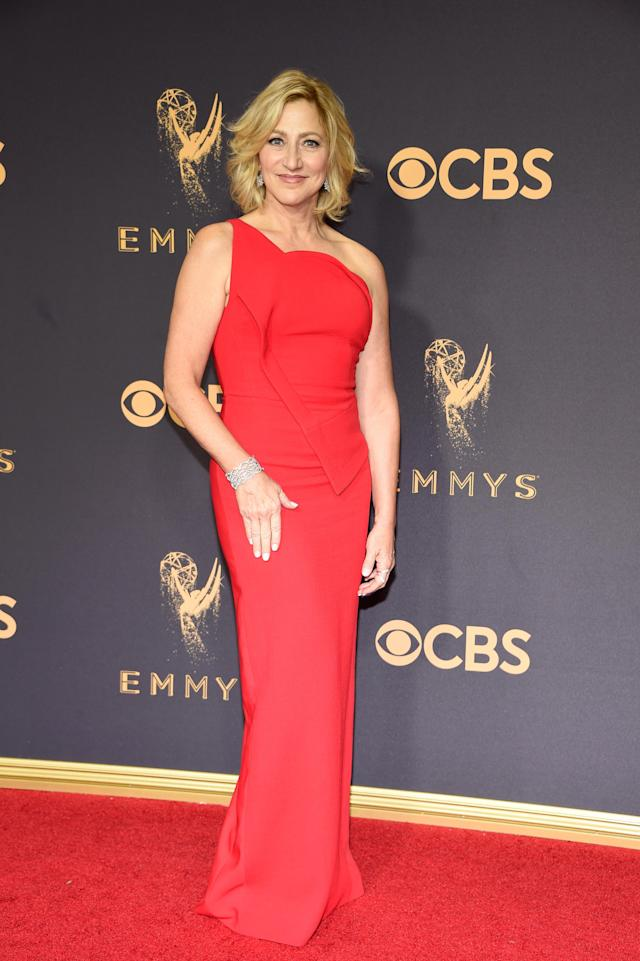 <p>Edie Falco attends the 69th Primetime Emmy Awards on Sept. 17, 2017.<br> (Photo: Getty Images) </p>