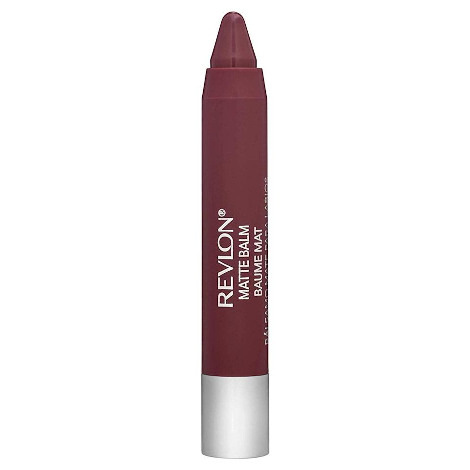 <p>If low-maintenance is your goal, the <span>Revlon Matte Balm </span> ($7) should be your makeup companion. The crayon-like packaging makes it easy to swipe on in a flash.</p>