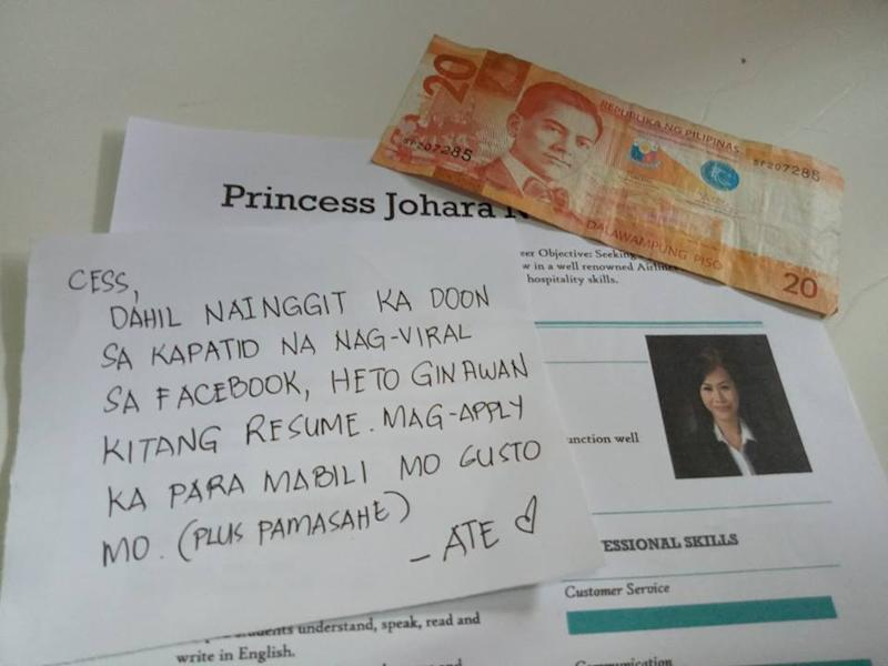 Viral Sister Gives Her Sibling Php20 Creates Resume To Help Her