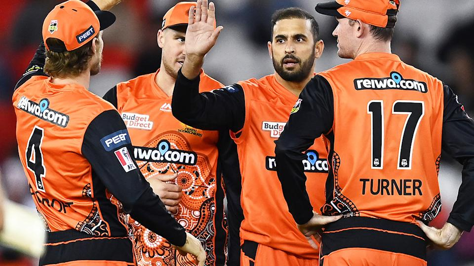 Fawad Ahmed, pictured here in action for Perth Scorchers in the BBL.
