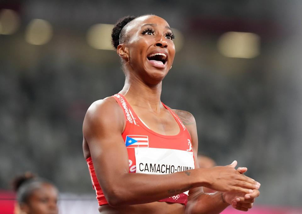 Camacho-Quinn took the gold medal with a time of 12.37sec (AP)