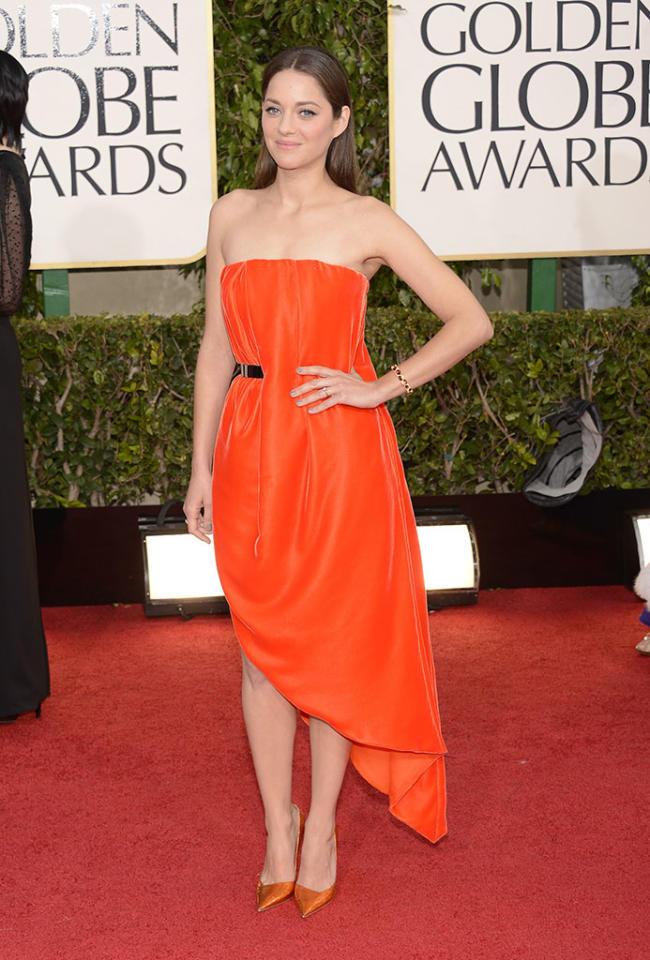Marion Cotillard arrives at the 70th Annual Golden Globe Awards at the Beverly Hilton in Beverly Hills, CA on January 13, 2013.