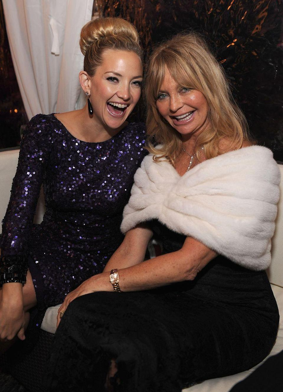<p>Goldie Hawn passed her signature million dollar smile down to her daughter, Kate Hudson. The duo share a strong resemblance, which is even more apparent in their acting roles. </p>