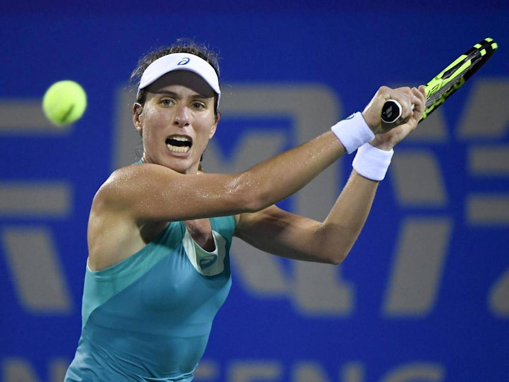 Konta in action during the 2017 season (Getty)