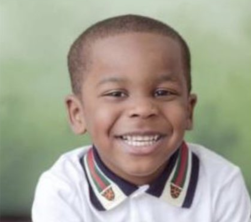 Pictured is Elijah LaFrance, the three-year-old who was shot and killed at a birthday party
