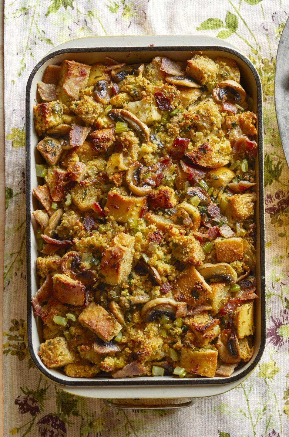 "<p>This cornbread dressing is so good that you'll want to make it year-round. </p><p><strong><a href=""https://www.thepioneerwoman.com/food-cooking/recipes/a33237974/cornbread-bacon-dressing-with-mushrooms-recipe/"" rel=""nofollow noopener"" target=""_blank"" data-ylk=""slk:Get the recipe."" class=""link rapid-noclick-resp"">Get the recipe.</a></strong></p><p><a class=""link rapid-noclick-resp"" href=""https://go.redirectingat.com?id=74968X1596630&url=https%3A%2F%2Fwww.walmart.com%2Fbrowse%2Fhome%2Fbaking-dishes%2F4044_623679_8455465_2321543%3Ffacet%3Dbrand%253AThe%2BPioneer%2BWoman&sref=https%3A%2F%2Fwww.thepioneerwoman.com%2Ffood-cooking%2Fmeals-menus%2Fg33251890%2Fbest-thanksgiving-sides%2F"" rel=""nofollow noopener"" target=""_blank"" data-ylk=""slk:SHOP BAKING DISHES"">SHOP BAKING DISHES</a></p>"
