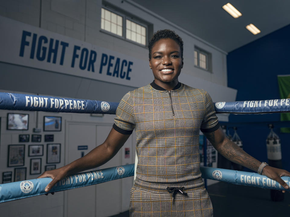 Two-time Olympic champion Nicola Adams revelled in returning to her 'happy place' as lockdown restrictions ease