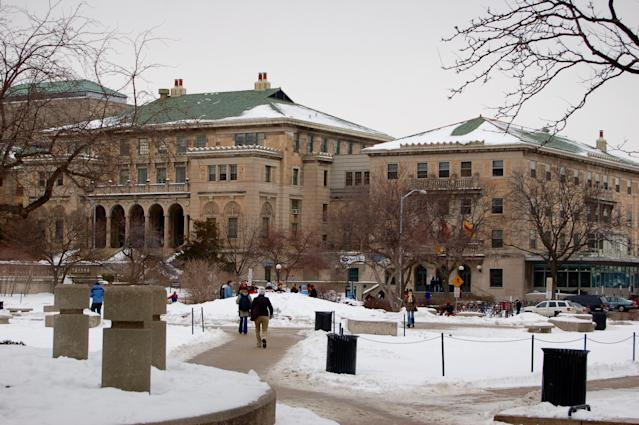 Five football players at the Eau Claire campus of the University of Wisconsin have been suspended after racist Snapchats circulated. (Getty Images)
