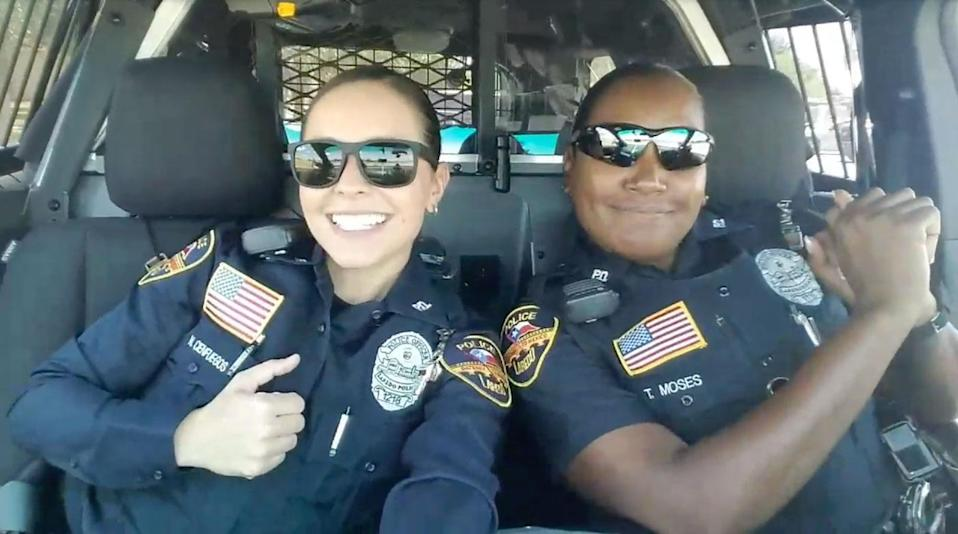 Many have praised the pair for having a sense of humour. Source: Facebook/ Laredo Police Department