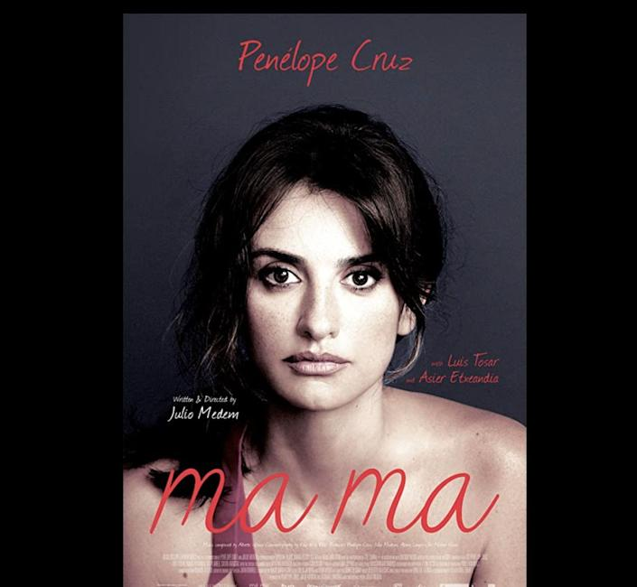 """<p>Magda (<strong><a href=""""https://www.imdb.com/name/nm0004851/"""" rel=""""nofollow noopener"""" target=""""_blank"""" data-ylk=""""slk:Penélope Cruz"""" class=""""link rapid-noclick-resp"""">Penélope Cruz</a></strong>) discovers she has stage 3 breast cancer. With the love and support of her husband, (<strong><a href=""""https://www.imdb.com/name/nm0869088/"""" rel=""""nofollow noopener"""" target=""""_blank"""" data-ylk=""""slk:Luis Tosar"""" class=""""link rapid-noclick-resp"""">Luis Tosar</a></strong>), and son, (<strong><a href=""""https://www.imdb.com/name/nm4253981/"""" rel=""""nofollow noopener"""" target=""""_blank"""" data-ylk=""""slk:Teo Planell"""" class=""""link rapid-noclick-resp"""">Teo Planell</a></strong>), she's determined to overcome it. While batting the disease, Magda is happily surprised to learn that she's pregnant with a baby girl. Becoming a mom again is yet another reason to keep fighting for her life.</p><p><a class=""""link rapid-noclick-resp"""" href=""""https://www.amazon.com/Ma-Pen%C3%A9lope-Cruz/dp/B01GPL725S?tag=syn-yahoo-20&ascsubtag=%5Bartid%7C10055.g.35564148%5Bsrc%7Cyahoo-us"""" rel=""""nofollow noopener"""" target=""""_blank"""" data-ylk=""""slk:STREAM NOW"""">STREAM NOW</a></p>"""