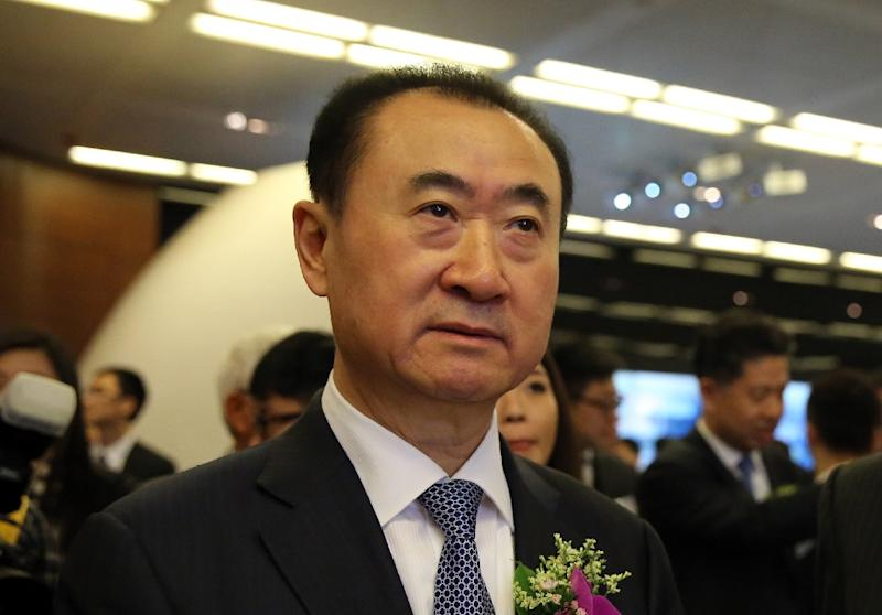 The Wanda Group is headed by Wang Jianlin, the 15th richest man on the planet according to Bloomberg's real-time ranking, which put his net worth at $31 billion (AFP Photo/Isaac Lawrence)
