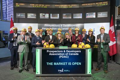 Prospectors & Developers Association of Canada (PDAC) Opens the Market (CNW Group/TMX Group Limited)
