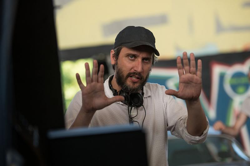 Director Fede Alvarez on the set of 'Don't Breathe' (credit: WENN)