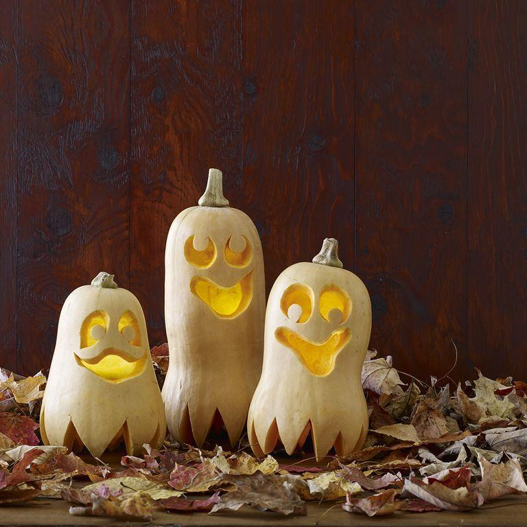 "<p>If you can't find pumpkins at the store, buy butternut squash and make them into these quirky creatures.</p><p><em><strong><u><a href=""https://www.womansday.com/home/crafts-projects/a28690013/happy-haunters-pumpkins/"" rel=""nofollow noopener"" target=""_blank"" data-ylk=""slk:Get the Happy Haunters tutorial."" class=""link rapid-noclick-resp"">Get the Happy Haunters tutorial.</a></u></strong></em></p>"