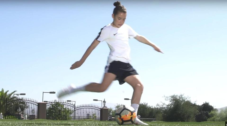 Olivia Moultrie, 13, is turning pro as Nike's newest soccer endorser, and her story will be interesting to follow. (Nike/AP)