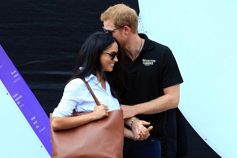 The pair were watching wheelchair tennis at the Invictus games (Getty Images)
