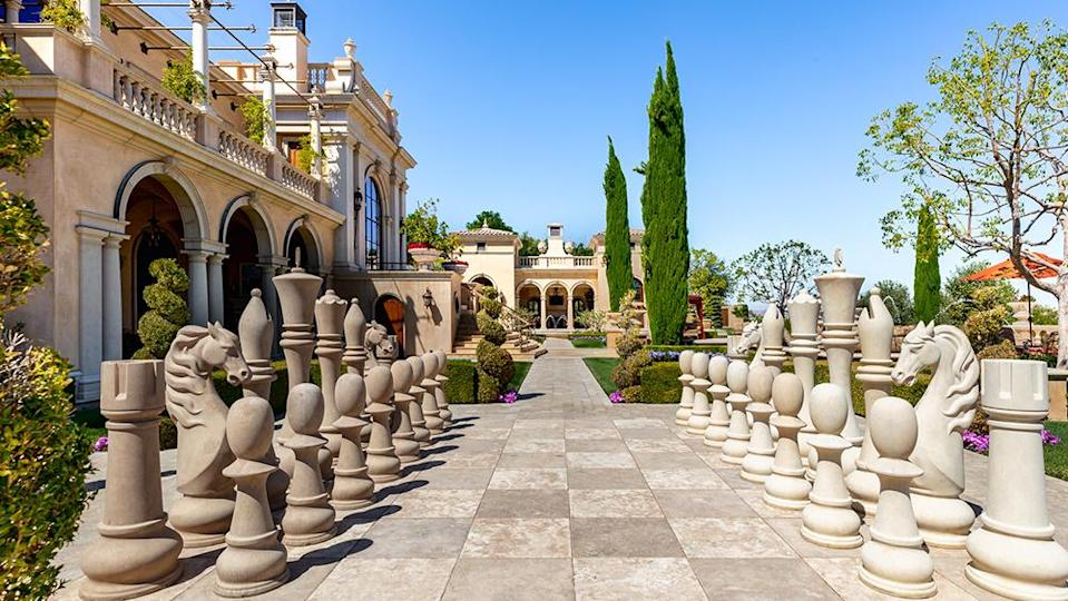 The outdoor chess set - Credit: Photo: Wayne Ford