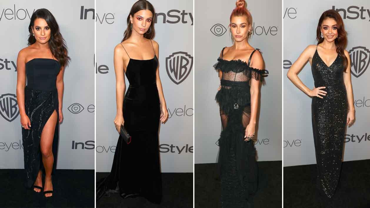 <p>All-black dress code continues at Golden Globes after parties</p>