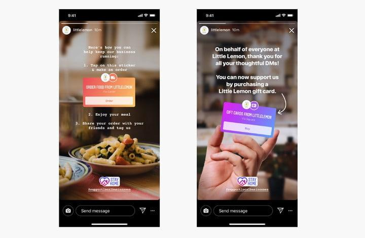 You can order food from Instagram Stories now
