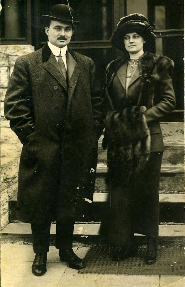 """A photo of John and Nellie Snyder taken April 18th 1912, the day they disembarked the Carpathia.<br><br>(Photo courtesy of <a target=""""_blank"""" href=""""http://www.weissauctions.com/"""">Phillip Weiss Auctions</a>)"""