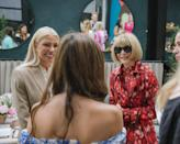 Sylvia Mantella and Anna Wintour chatting about all things wedding with Beatrice Ho.