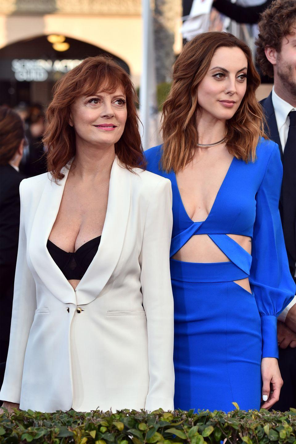 <p>Actress Susan Sarandon and her (also) actress daughter Eva Amurri would be completely identical if Amurri wasn't nearly a head taller than her mother. </p>