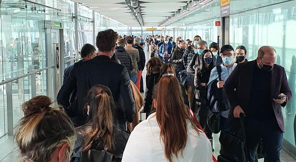 Airline passengers reported delays of up to four hours (Clive Marshall/PA) (PA Wire)