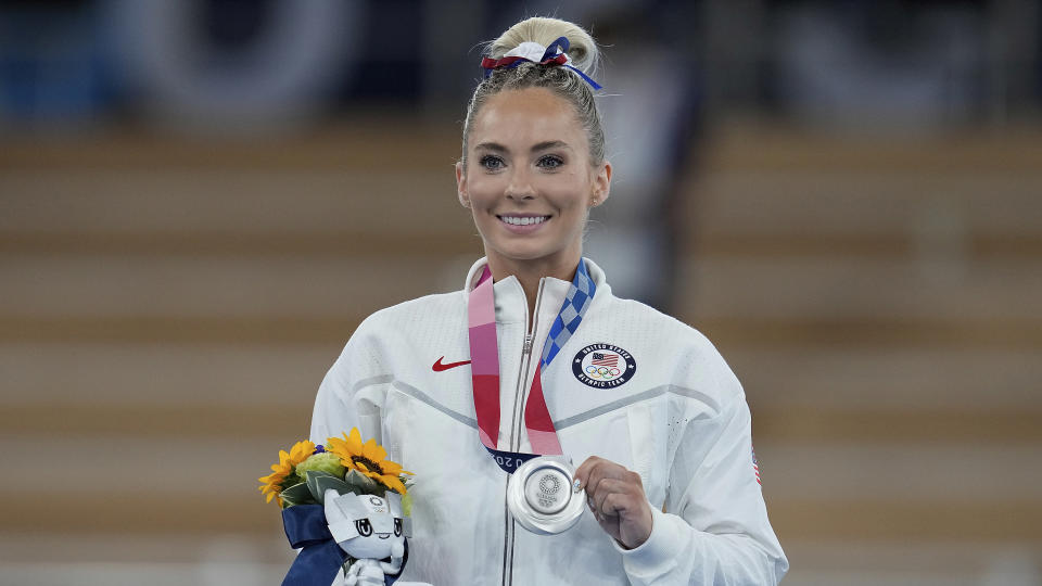 After thinking her Olympic career was over, MyKayla Skinner earned gymnastics silver. (AP Photo/Natacha Pisarenko)