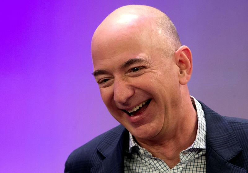 FILE PHOTO - Amazon President Chairman and CEO Bezos speaks in New York City