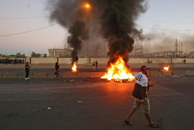 Protesters burnt tyres as they held huge rallies demanding a complete overhaul of the political system