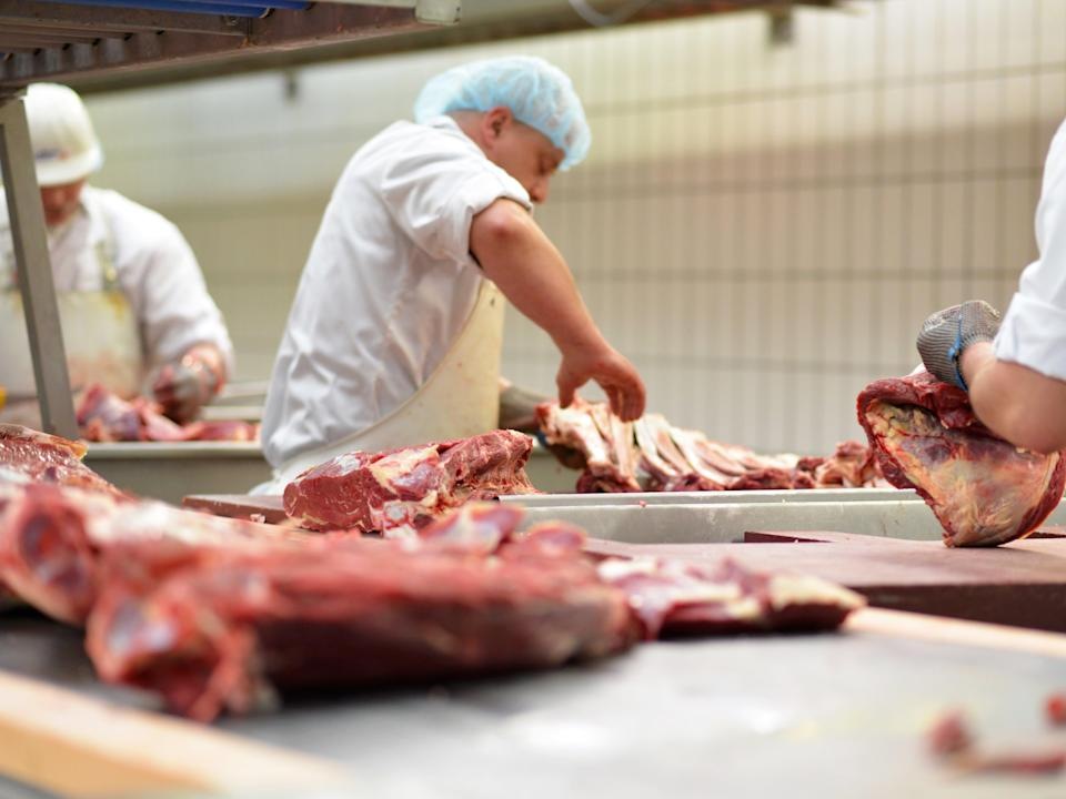 A meat industry chief has warned food production lines are 'failing' because of staff being forced to self-isolate  (Getty Images/iStockphoto)