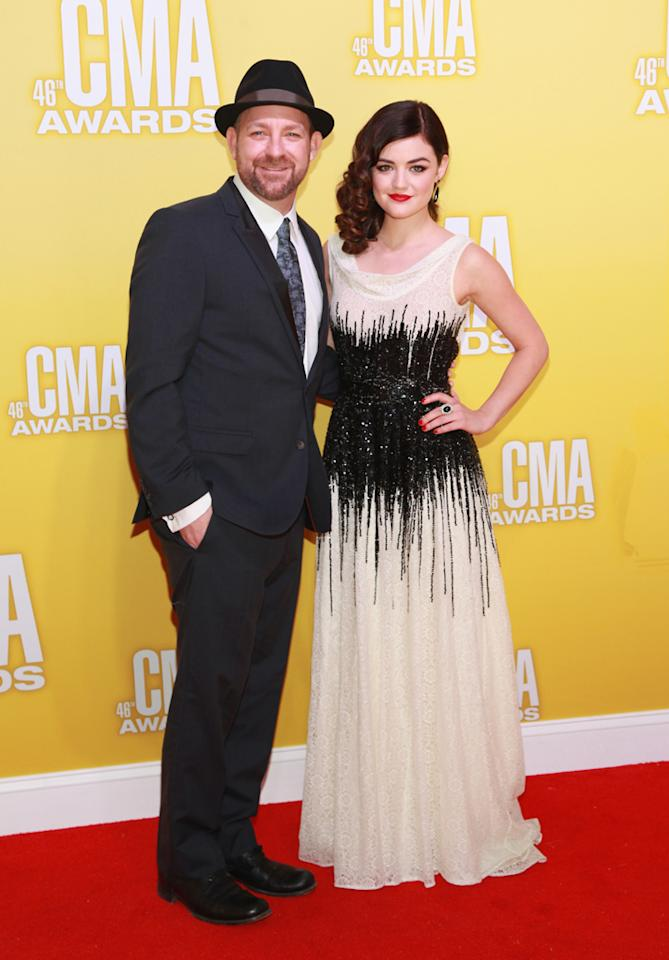 """Pretty Little Liars"" star and aspiring country singer Lucy Hale was escorted by Sugarland's Kristian Bush. Hale – who hails from Tennessee – is working with Sugarland on her upcoming country album. ""Country music has so much soul and is so heartfelt. I think it's a perfect fit for me,"" she told MTV. ""I think it will surprise people."" (11/1/2012)"