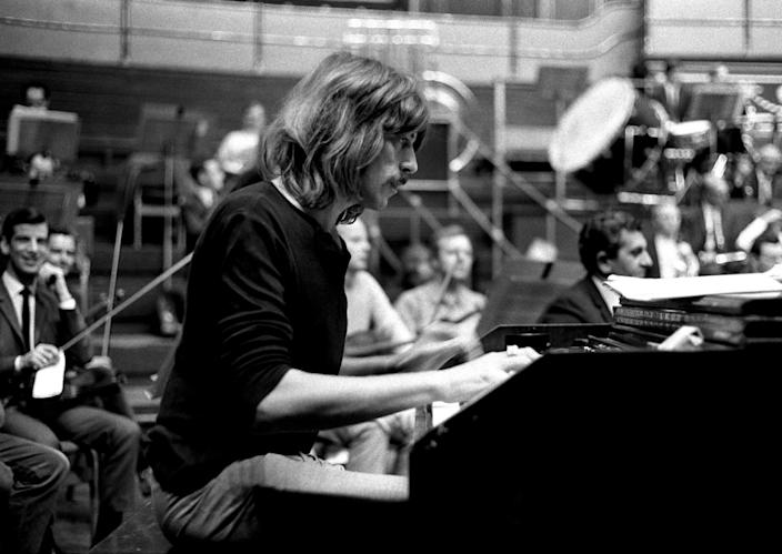 FILE - In this file photo dated Sept. 23, 1969 shows Deep Purple's Jon Lord, died aged 71, Monday, July 16, 2012. The Leicester-born keyboard player, who had pancreatic cancer, died in London today. (AP Photo/PA,File) UNITED KINGDOM OUT - NO SALES - NO ARCHIVES